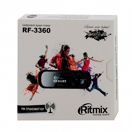 Плеер MP3 RITMIX RF-3360 8Gb Black