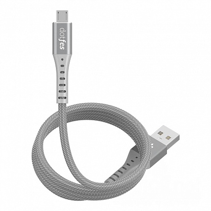 USB кабель micro DOTFES A08M Durable Nylon Braided (1m)  gray