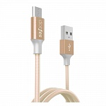 USB кабель micro DOTFES A03M (1m) rose gold