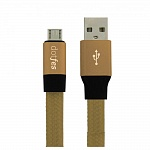 USB кабель micro DOTFES A09M Self-Rolling (0,8m) gold