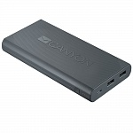 Внешний аккумулятор CANYON Power bank 20000mAh built-in Lithium-ion battery, max output 5V2.4A, input 5V2A. Dark Gray. (H2CNECPBF200DG)