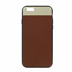 Накладка DOTFES G03 Aluminium Alloy Nappa leather Case для iPhone 6/6s (brown)