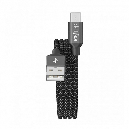 USB кабель Type-C DOTFES A06T Dual Color (1m) black