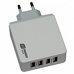 СЗУ Mango Device 4-USB-Port 5.4A (White,Family-Sized USB charger) XBX-07EW