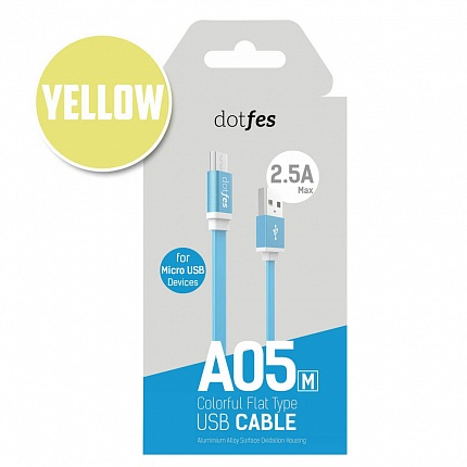 USB кабель micro DOTFES A05M (1m) yellow