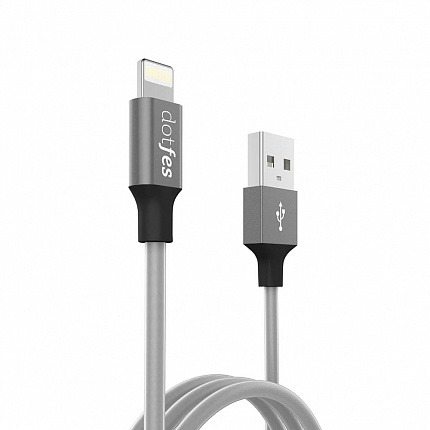 USB кабель DOTFES A03 Frosted Lightning (1m) tarnish