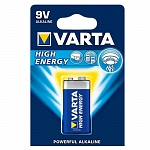 Батарейка Крона_6LR61 / 6LR3146 VARTA HIGH ENERGY 9V в блистере 1шт\10бл.в коробке 04922121411